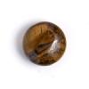 "Semi-precious 12mm Puffed Coin 8"" Strand Tiger Iron"